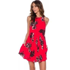 Free People Flutterby Floral Dress
